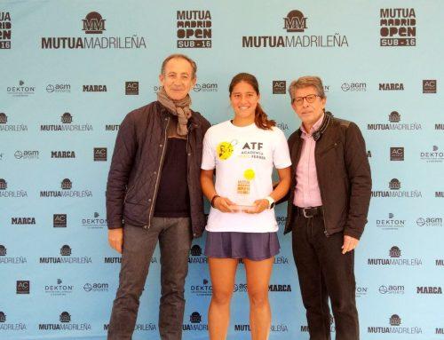 Alba Rey se queda a un paso del título en la fase regional del Madrid Open sub 16