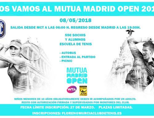 ¿Te vienes al MUTUA MADRID OPEN 2018?