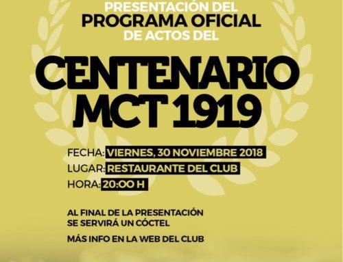 Presentación del Centenario del MCT1919