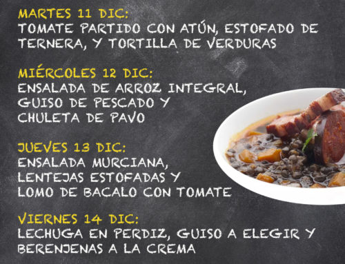 Menú Restaurante MCT1919 — Semana 10 al 14 de Diciembre