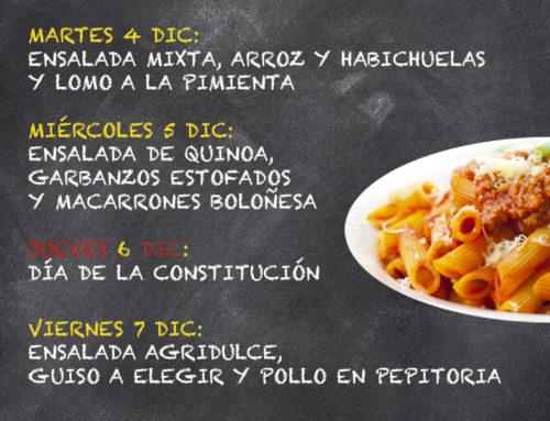 Menú Restaurante MCT1919 — Semana 3 al 7 de Diciembre