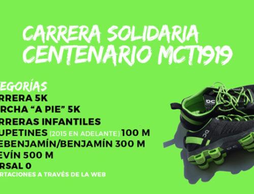 ¡Sprint final! Últimas horas para inscribirse en la Carrera Solidaria Centenario MCT 1919