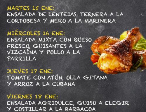 Menú Restaurante MCT1919 — Semana 14 al 18 de enero