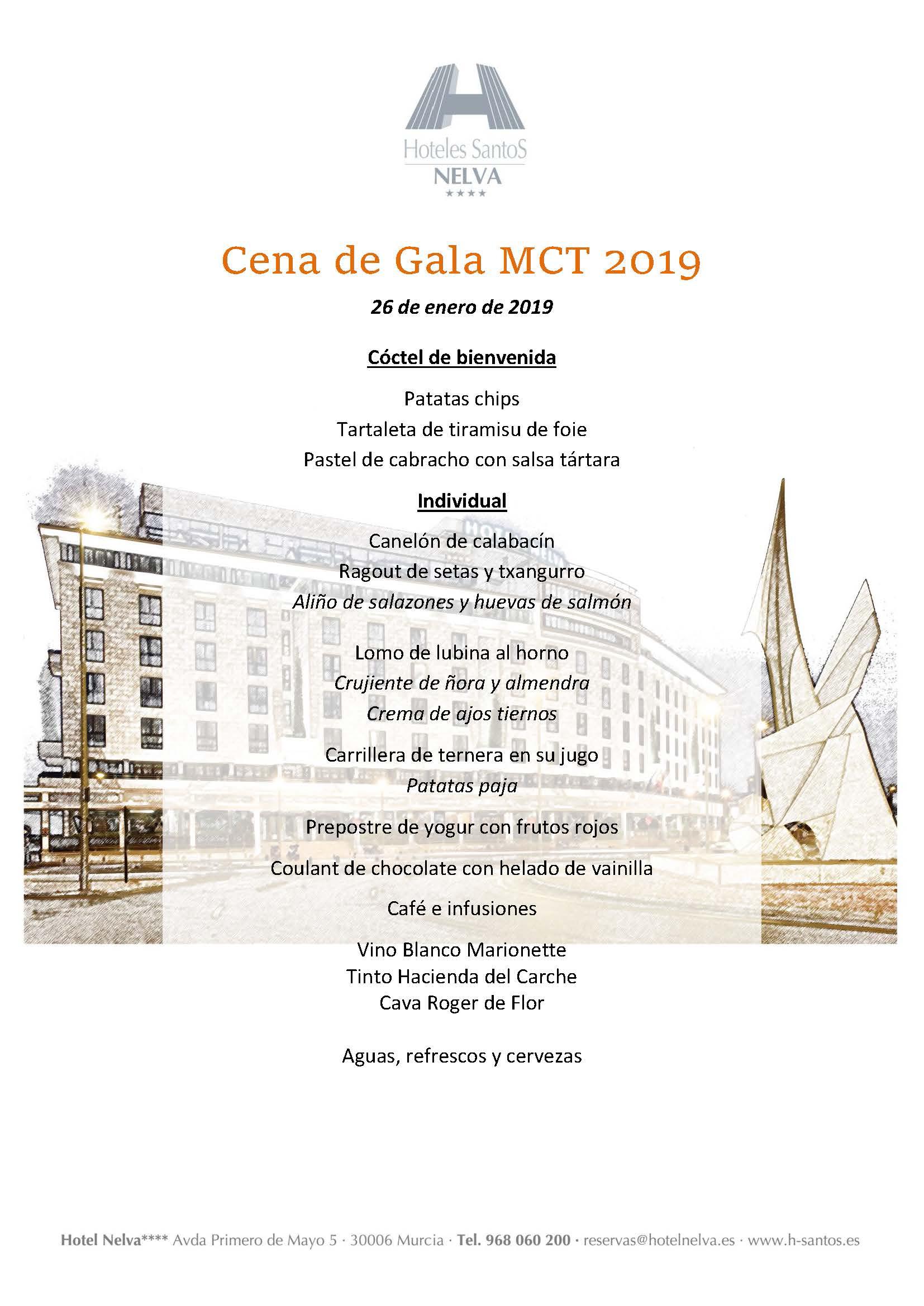 Menú Gala MCT1919 2019