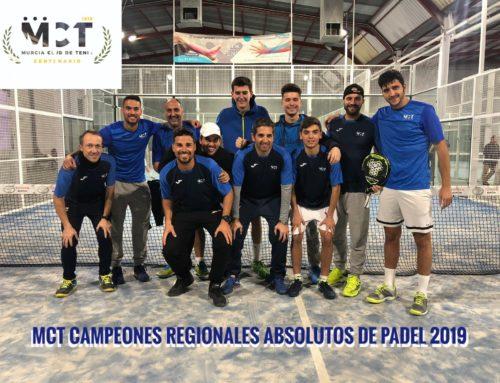 MCT1919 Campeones Regionales Absolutos de Pádel 2019