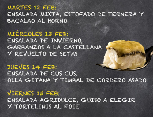 Menú Restaurante MCT1919 — Semana 11 al 15 de febrero