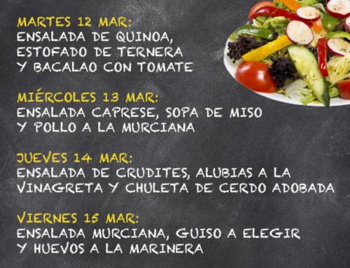 Menú Restaurante MCT1919 — Semana 11 al 15 de marzo