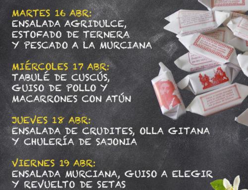 Menú Restaurante MCT1919 — Semana 15 al 19 de abril