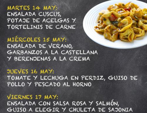 Menú Restaurante MCT1919 — Semana 13 al 17 de mayo