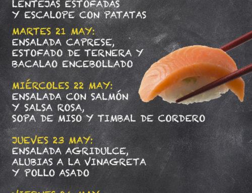 Menú Restaurante MCT1919 — Semana 20 al 24 de mayo