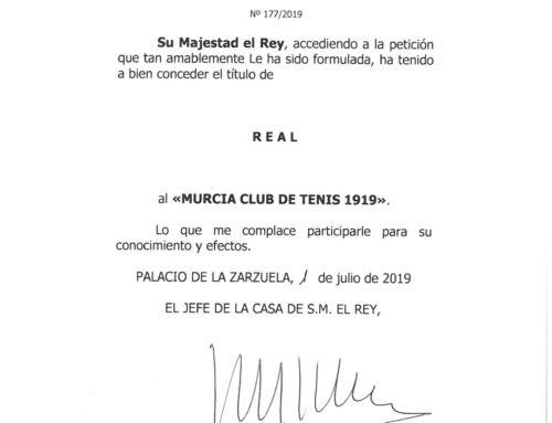 El Rey Felipe VI concede el título de Real al Murcia Club de Tenis 1919