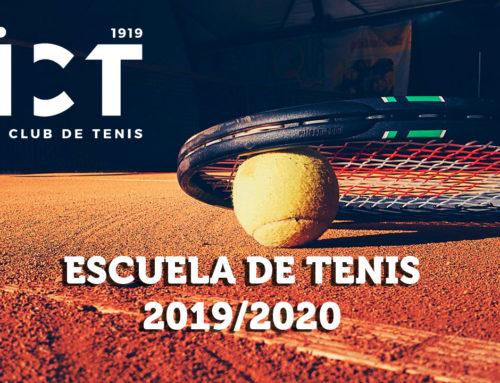 Escuela de Tenis 2019/2020: Abierto plazo de inscripción.