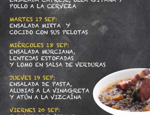 Menú Restaurante MCT1919 — Semana 16 al 20 de septiembre
