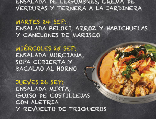 Menú Restaurante MCT1919 — Semana 23 al 27 de septiembre