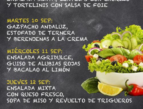 Menú Restaurante MCT1919 — Semana 09 al 13 de septiembre