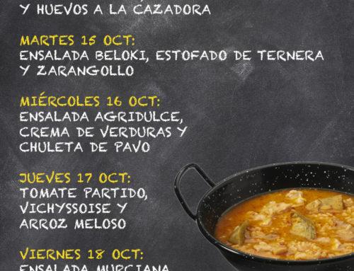 Menú Restaurante MCT1919 — Semana 14 al 18 de octubre