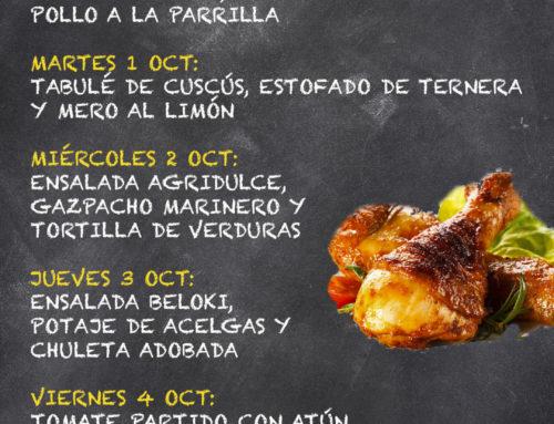 Menú Restaurante MCT1919 — Semana 30 de septiembre a 4 de Octubre