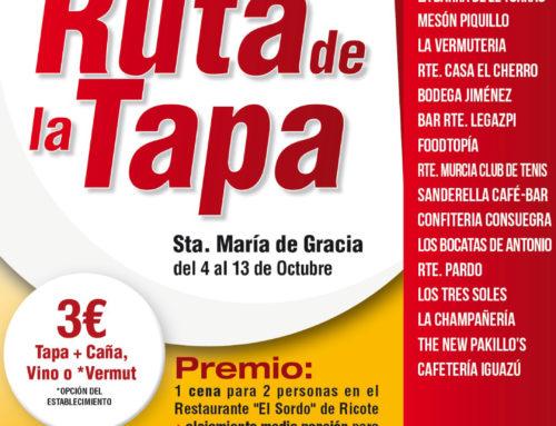 Ruta de la Tapa Bº Santa María de Gracia del 4 al 13 de Octubre