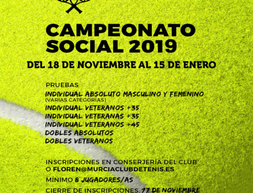 Campeonatos Sociales Absolutos 2019