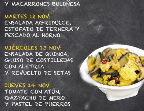 Menú Restaurante MCT1919 — Semana 11 al 15 de noviembre