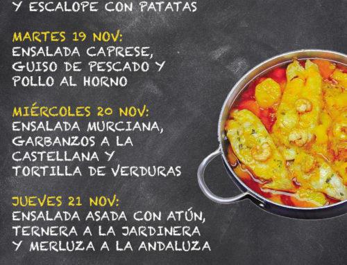 Menú Restaurante MCT1919 — Semana 18 al 24 de noviembre