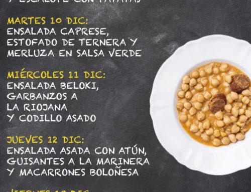 Menú Restaurante MCT1919 — Semana 09 al 13 de diciembre