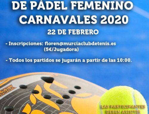 Torneo Mini-Carnaval de Pádel Femenino