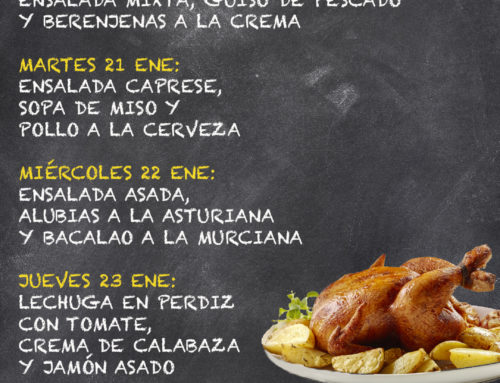 Menú Restaurante MCT1919 — Semana 20 al 24 Enero