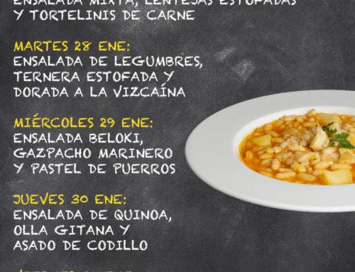 Menú Restaurante MCT1919 — Semana 27 al 31 Enero