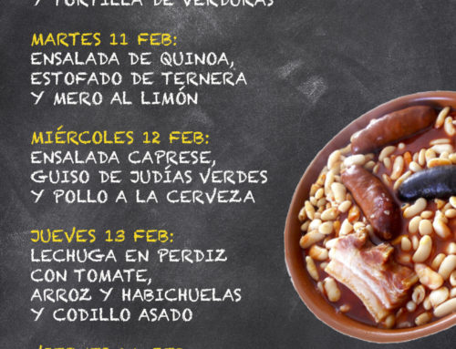 Menú Restaurante MCT1919 — Semana 10 al 14 Febrero