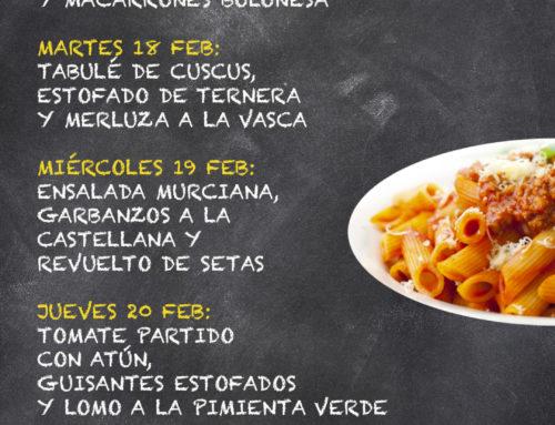 Menú Restaurante MCT1919 — Semana 17 al 21 Febrero