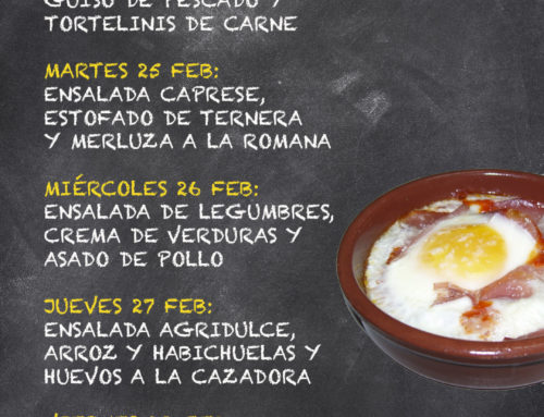 Menú Restaurante MCT1919 — Semana 24 al 28 Febrero