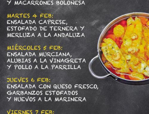 Menú Restaurante MCT1919 — Semana 03 al 07 Febrero