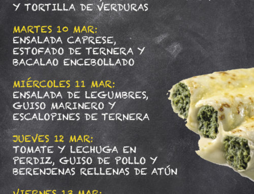 Menú Restaurante MCT1919 — Semana 9 al 13 Marzo
