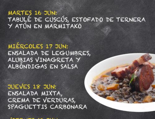Menú Restaurante RMCT1919 — Semana 15 al 19 Junio