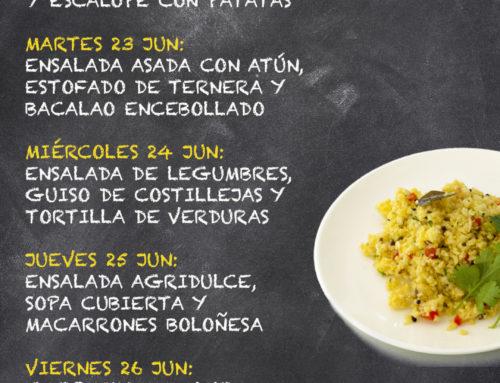 Menú Restaurante RMCT1919 — Semana 22 al 26 Junio