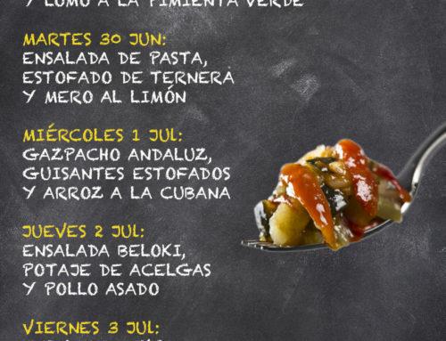 Menú Restaurante RMCT1919 — Semana 29 junio al 3 Julio