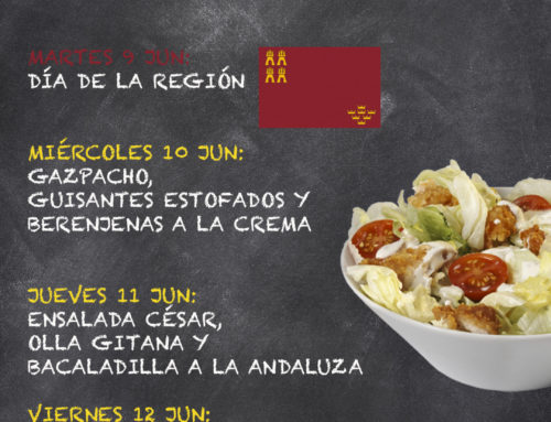Menú Restaurante RMCT1919 — Semana 8 al 12 Junio