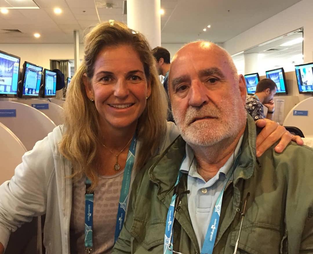 Miguel Ángel Zubiarraín con Arantxa Sánchez Vicario