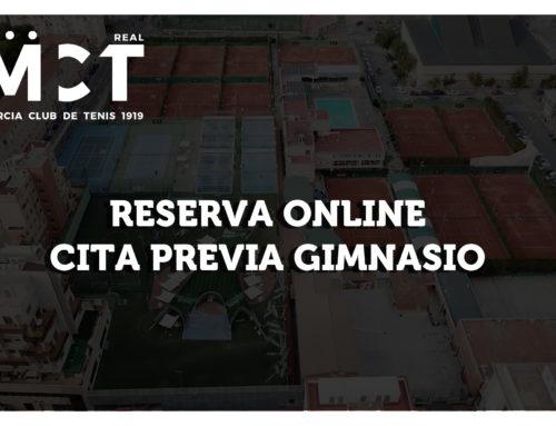 Reserva Online Cita Previa Gimnasio – a partir 30/06/2020