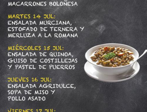 Menú Restaurante RMCT1919 — Semana del 13 al 17 Julio