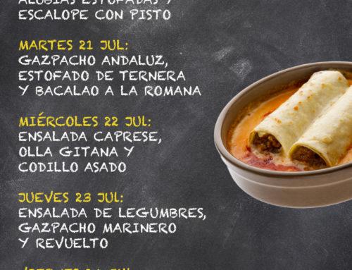Menú Restaurante RMCT1919 — Semana del 20 al 24 Julio