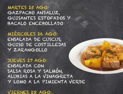Menú Restaurante RMCT1919 — Semana del 24 al 28 Agosto