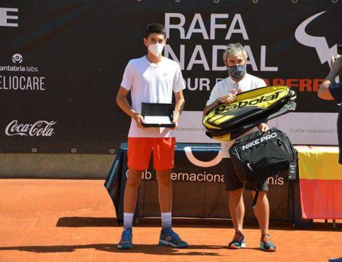 Pablo Martínez, subcampeón del torneo infantil delcircuito Rafa Nadal Tour by Mapfre