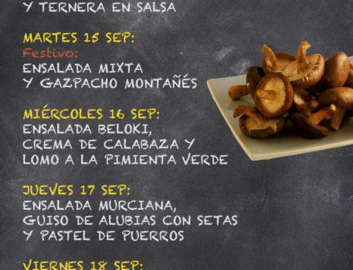 Menú Restaurante RMCT1919 — Semana del 14 al 18 de septiembre