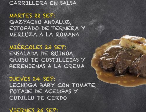 Menú Restaurante RMCT1919 — Semana del 21 al 25 de septiembre