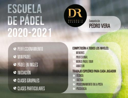 Escuela de Pádel 2020/2021: abierto plazo de inscripción