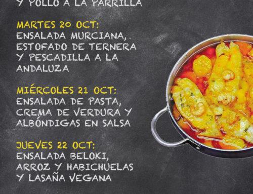 Menú Restaurante RMCT1919 — Semana del 19 al 23 de octubre