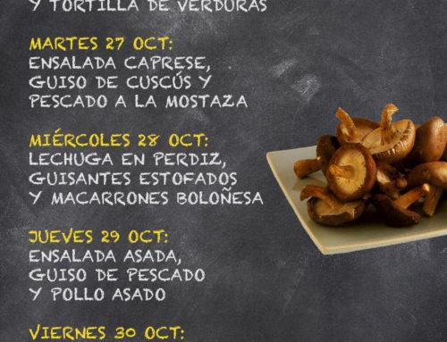 Menú Restaurante RMCT1919 — Semana del 26 al 30 de octubre