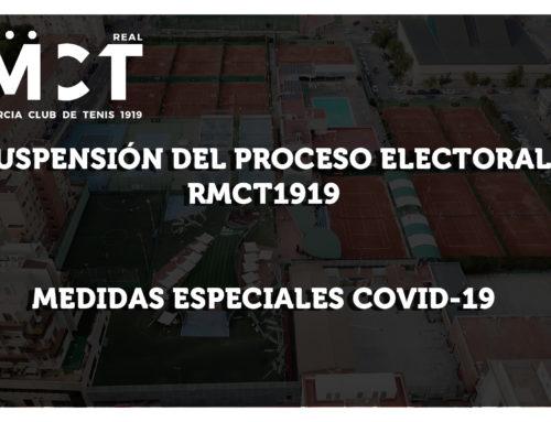Suspensión Proceso Electoral RMCT1919